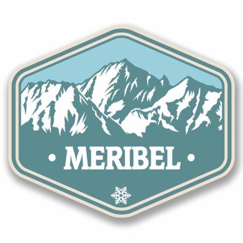2 x Meribel France Vinyl Sticker Car Travel Luggage #9768