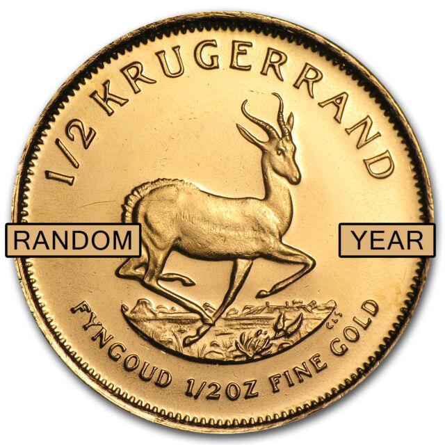 1/2 oz Gold South African Krugerrand Coin - Random Year - SKU #1016