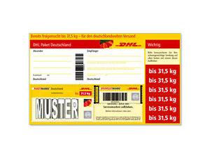 Dhl Sperrgut Paketmarke Bis 315 Kg Versichert Neu Ebay