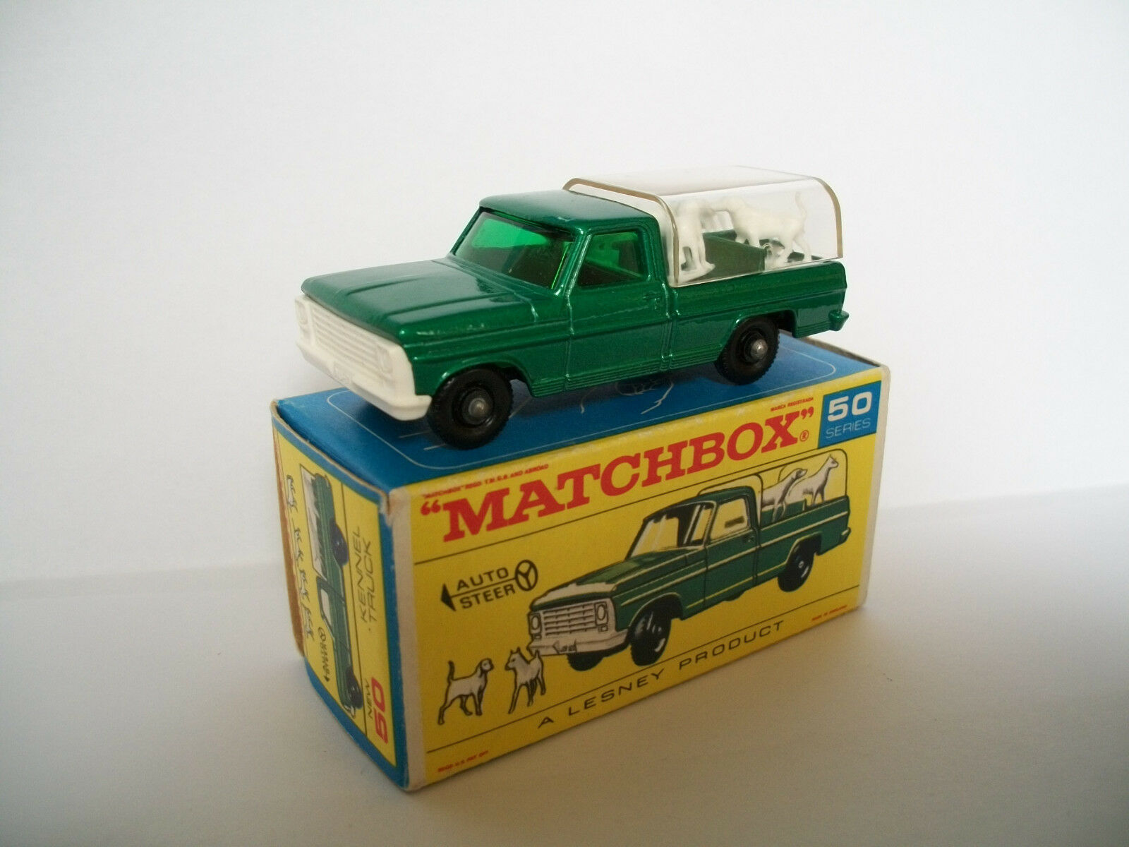 MATCHBOX REGULAR Wheel Nº 50 C FORD petits animaux camion avec NEUF dans sa boîte Comme neuf en boîte