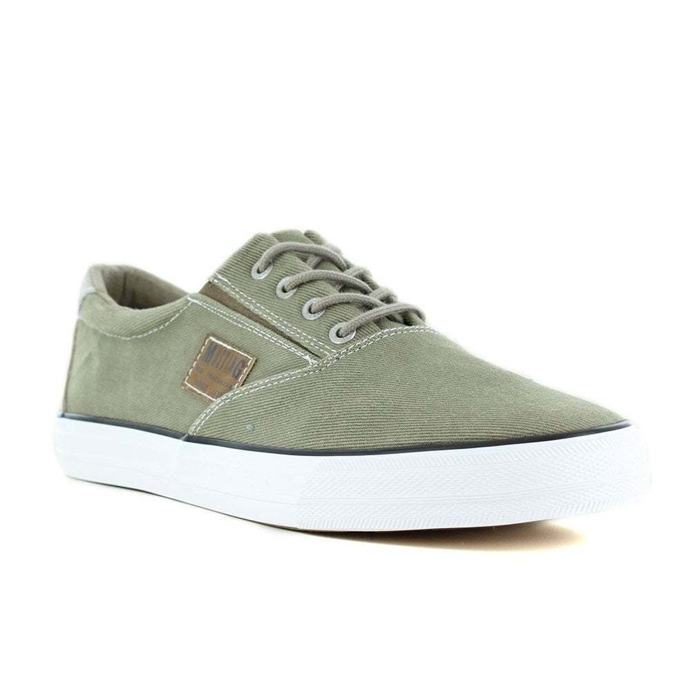 MUSTANG 4127-304-77 Mens Canvas Fashion Trainer shoes - Olive