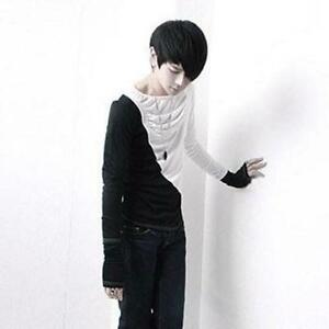 Korean-Fashion-Men-039-s-Base-Shirts-With-Gloves-Slim-Fit-Long-Sleeved-T-shirts-New
