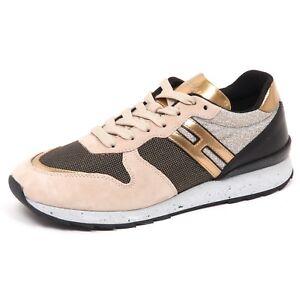 E0242 sneaker donna HOGAN R261 beige/nero shoe woman