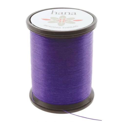 Hana Beading Thread Violet Purp 43755 Size B 100m Spool 330DTEX Pre-Waxed