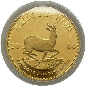 Goldmünze Krügerrand 2000 1 oz Das Original Südafrika in Polierte Platte