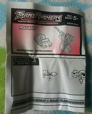 Transformers RID ROLLBAR INSTRUCTION BOOKLET