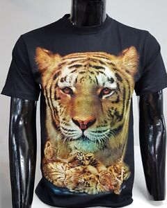 Lion Big Cat Official Wild T-Shirt UK Stockist M L XL