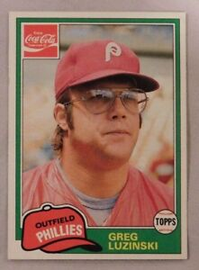 Details About 1981 Topps Coca Cola Greg Luzinski Phillies 4 Baseball Card