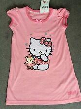 M&S Hello Kitty Rosa nightshirt con grandi HELLO KITTY sulla parte anteriore con Teddy-Bnwt