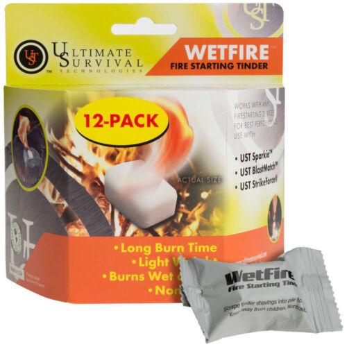 Ultimate Survival Wet Fire Amadou 12pk non-toxique 20-1WG0412-BX12 Fresh