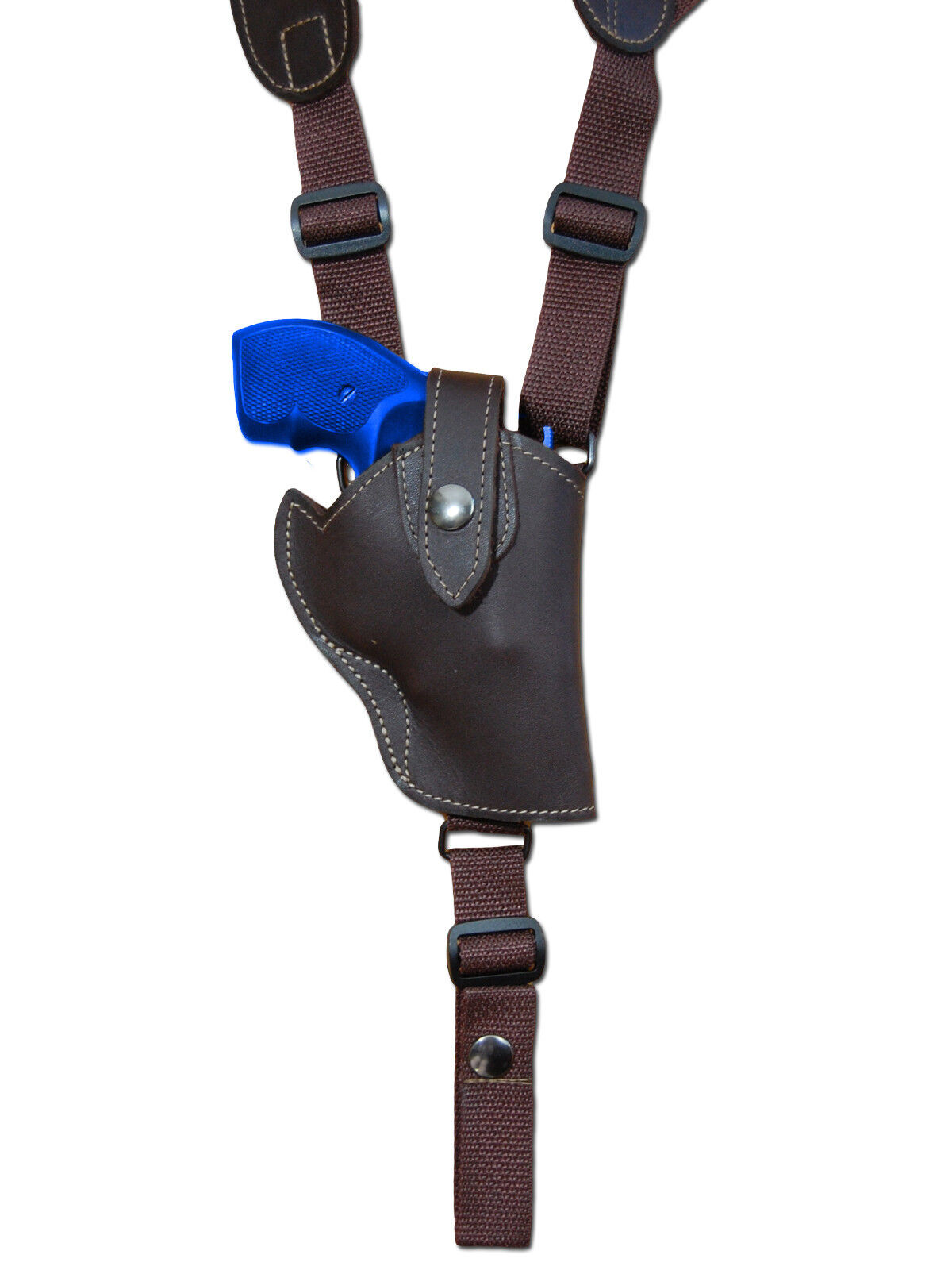NEW Vertical Barsony Braun Leder Vertical NEW Gun Shoulder Holster for S&W 2
