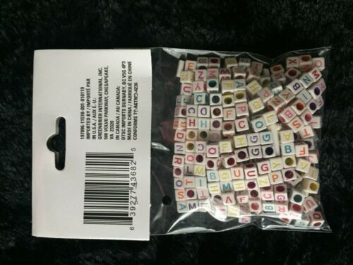 Crafters Square Mixed Alphabet Beads 325 piece