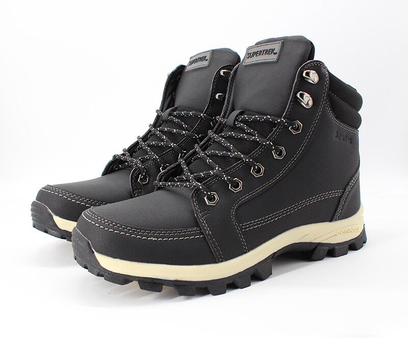 UK SIZE 11 - SUPERTREK OUTDOOR WINTER INSULATED WARM ANKLE BOOTS - BLACK