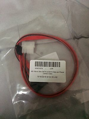 Monoprice 16 inch Slim SATA to SATA Data and Power Combo Cable