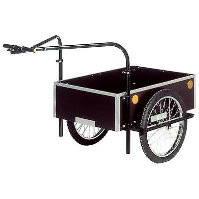 100% De Calidad Roland Profi Fahrrad Anhänger Handwagen 120l Doppeldeichsel Transport 20 Zoll