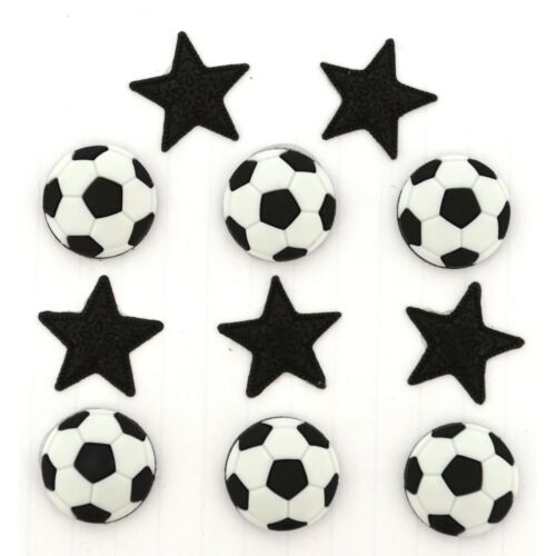 Dress It Up ~ Soccer scrapbook Jesse James Buttons sewing sports