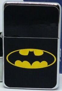 Batman Superhero Logo Black Background Flip Metal Petrol Lighter Ebay