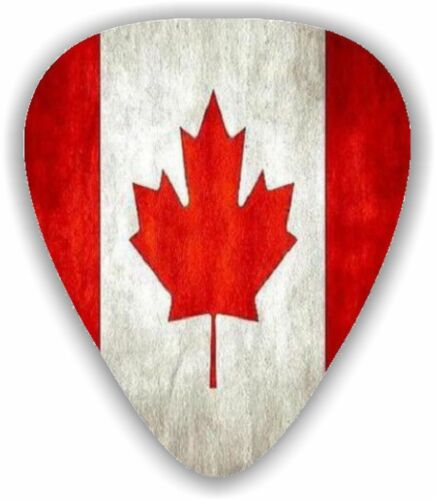 CANADA FLAG GUITAR PLECTRUM PICKS 0.71MM CANADIAN FLAG