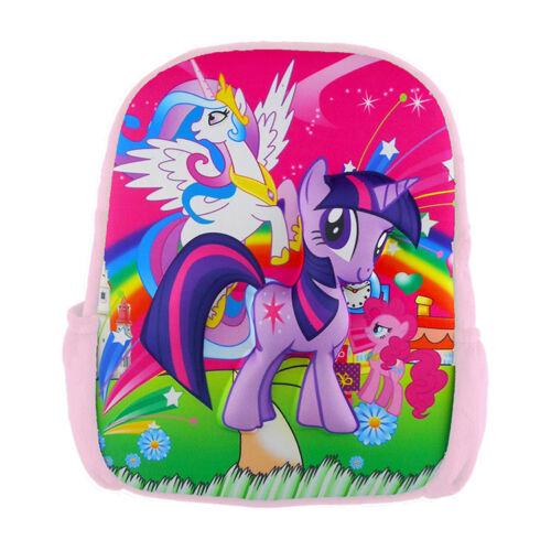 Children/'s Pony Unicorn Backpack Bag School Fun Pretty Rainbow