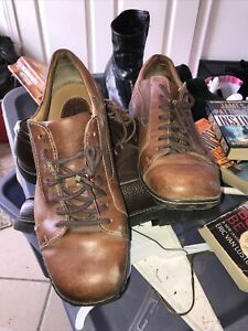 Born Mens Oxford Shoes Size 11 Brown Leather Lace Up  M6259