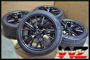 Image Is Loading 20 034 Satin Black Staggered New Wheels Tires