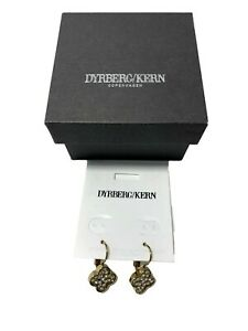 NEW, DYRBERG/KERN GOLDEN DROP EARRINGS, WITH BOX, $90