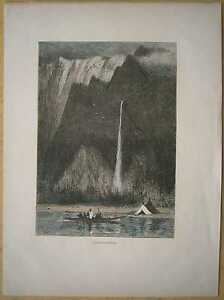1884-print-MULTNOMAH-FALLS-COLUMBIA-RIVER-GORGE-NEAR-CORBETT-OREGON-91