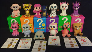 Lot 6 TY Mini Beanie Boos Series 3 Vinyl Hand Painted NEW Collectibles