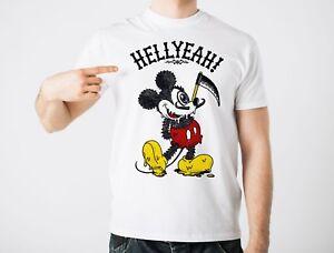 Detalles De Mickey Mal Camiseta Diablos Sí Dibujos Animados Divertida Parodia Yolo Tumblr Ratón Gracioso Cool Ver Título Original
