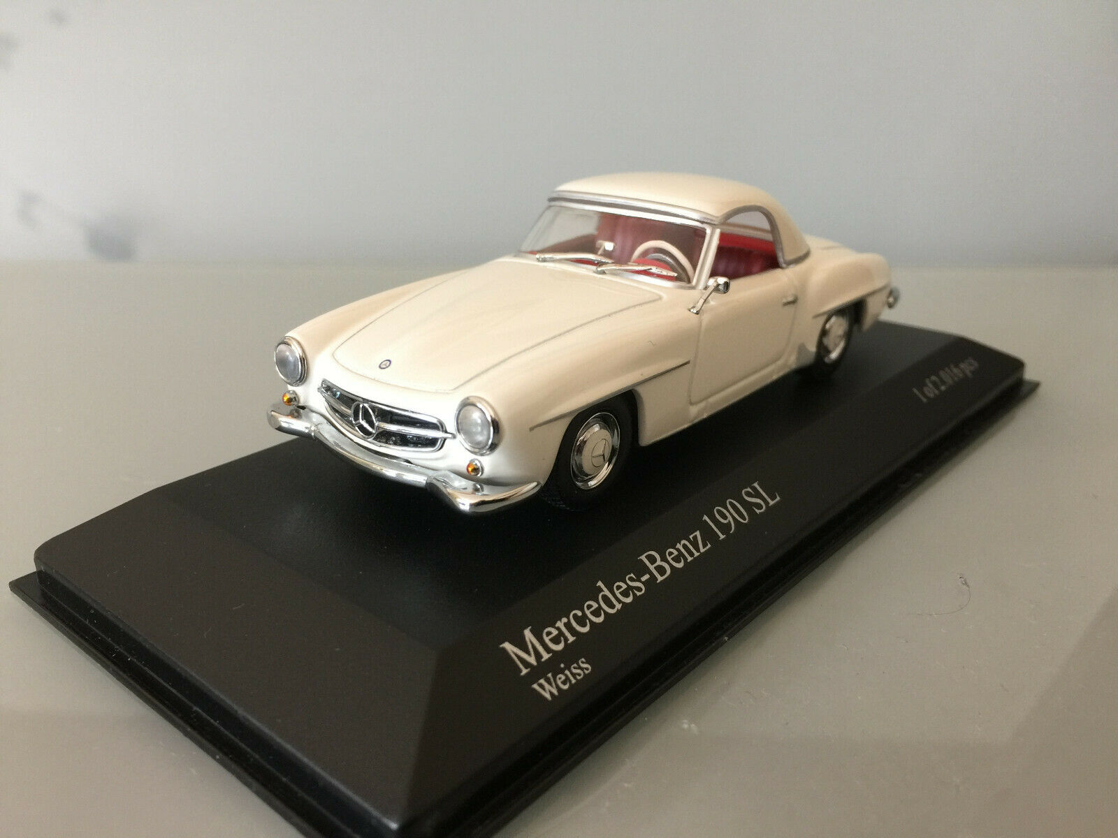 1 43 Minichamps Mercedes Benz 190 SL, 1955, Blanc   liquidation de la boutique
