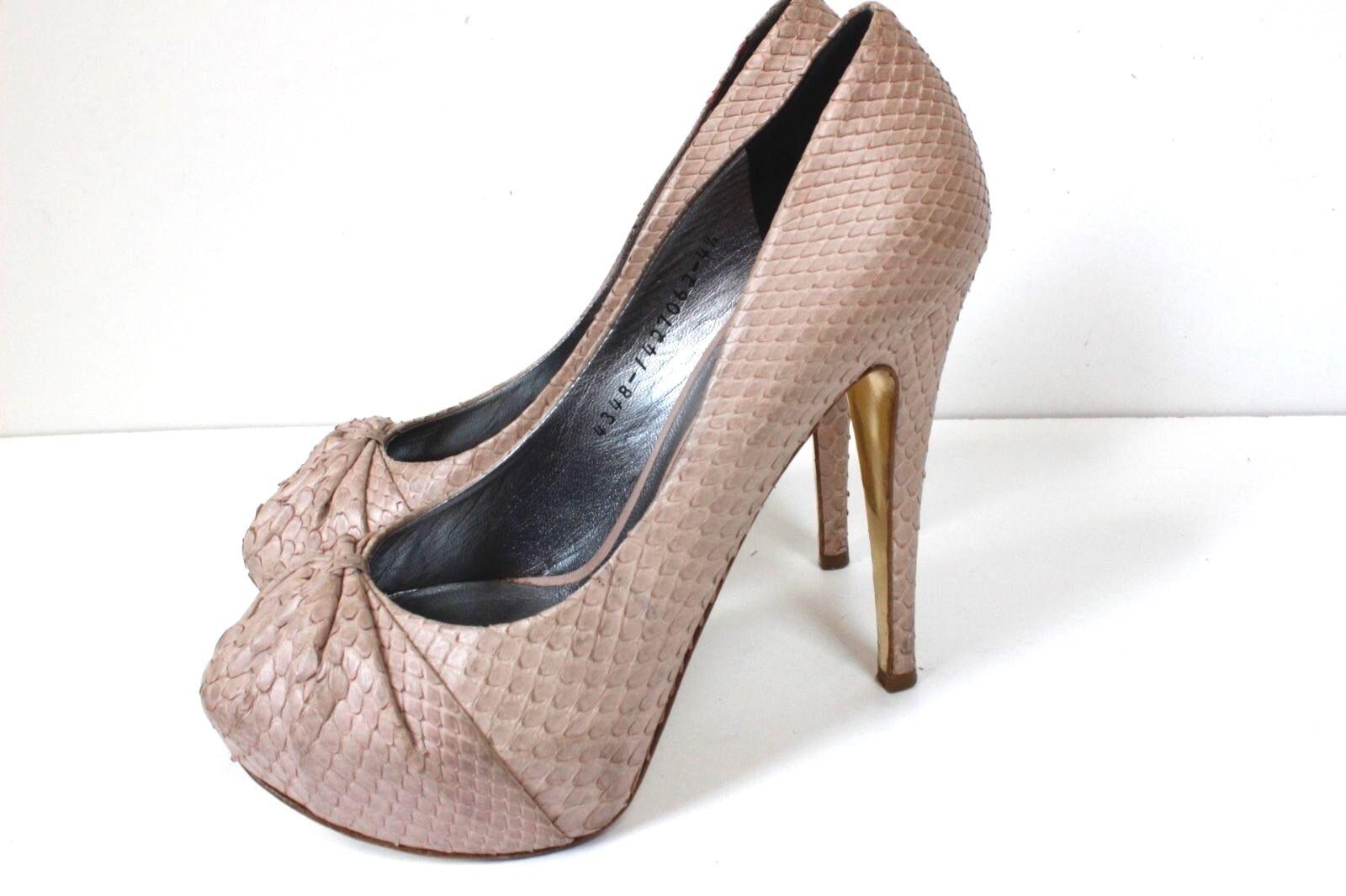 Gina Blaush Rosa Heels Snake Skin Heels Rosa uk 4.5 c74955