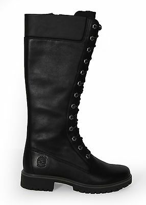 Timberland Women's 14-Inch Premium Side-Zip Lace Waterproof Boot 8632A Black