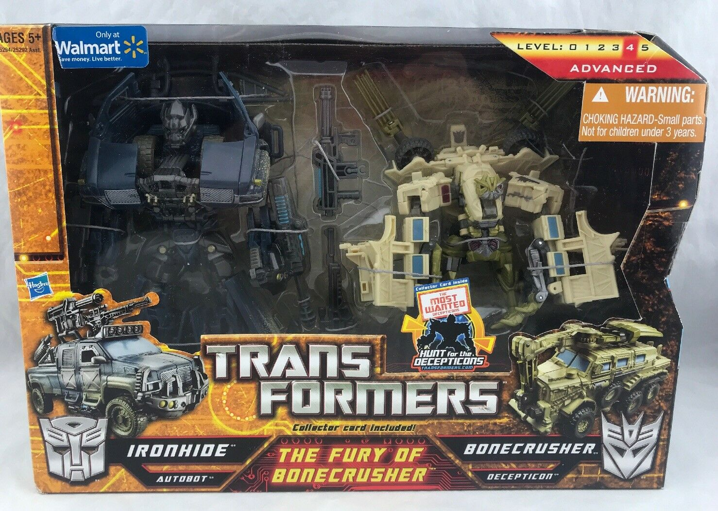 Transformers HFTD The Furry Of Bonecrusher Set Ironhide Walmart Exclusive MISB