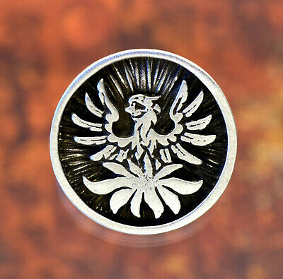 Phoenix Buttons1 InchFine PewterYour Choice of ColorSET of TWO
