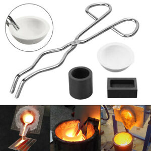16OZ Gold Graphite Crucible Cup + Tongs + Melting Bowl + Ingot Mold Casting GT