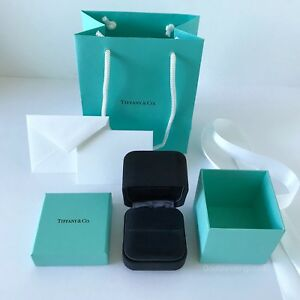 Image Is Loading Tiffany Amp Co Suede Engagement Ring Box Outer