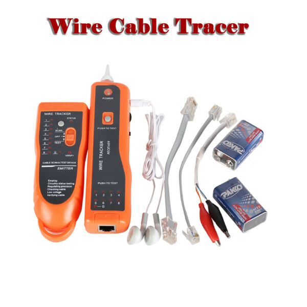 Diplomatisch Wire Cable Tracer Tone Generator Finder Probe Tracker Network Tester With Case
