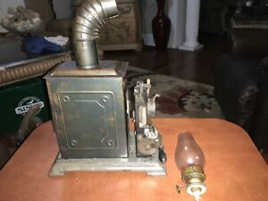 Scarce-Antique-Lantern-Projector-JF-Hand-Crank-Movies-Reel