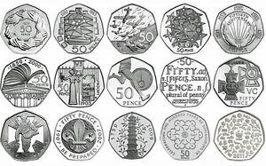 UK-50p-prova-Inglese-Decimale-Cinquanta-Pence-Monete-scelta-della-data-1971-2017
