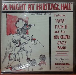 PAPA-FRENCH-NEW-ORLEANS-JAZZ-BAND-A-NIGHT-AT-HERITAGE-HALL-1965-NOBILITY-702-LP