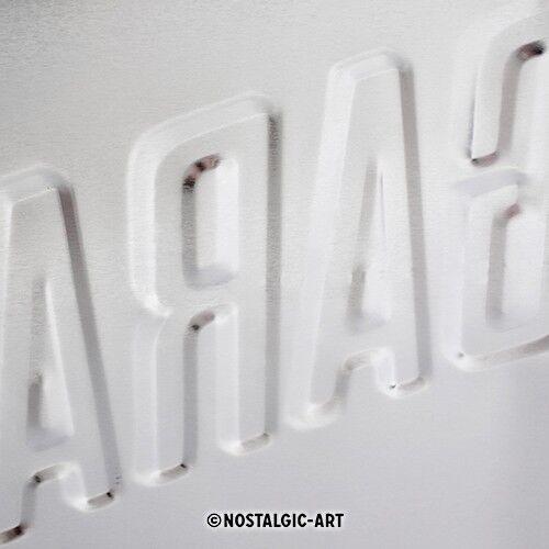 gewölbt /& Motiv geprägt 30 x 40 cm BMW Garage Blechschild
