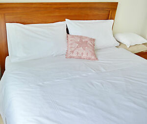 Image Is Loading Double Bed Sheet Set Egyptian Cotton White Fitted