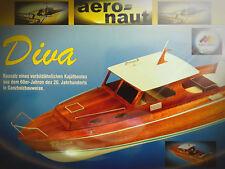 Diva Kajütboot aero-naut Motorboot RC-Sportboot Baukasten NEU Holzbaukasten