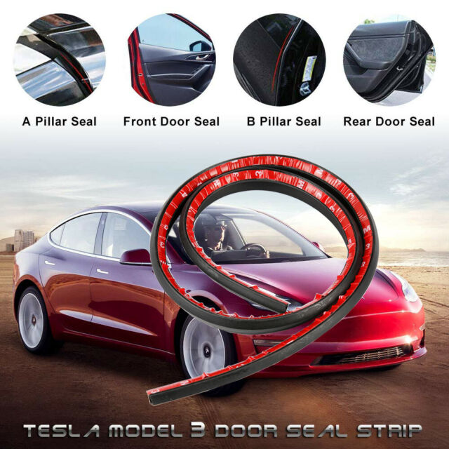 Tesla Model 3 Door Seal Kit Soundproof Rubber Strip Wind ...
