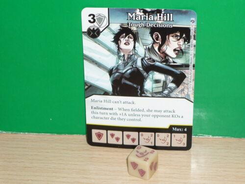 MARVEL DICE MASTERS Civil War inglés 117 Maria Hill