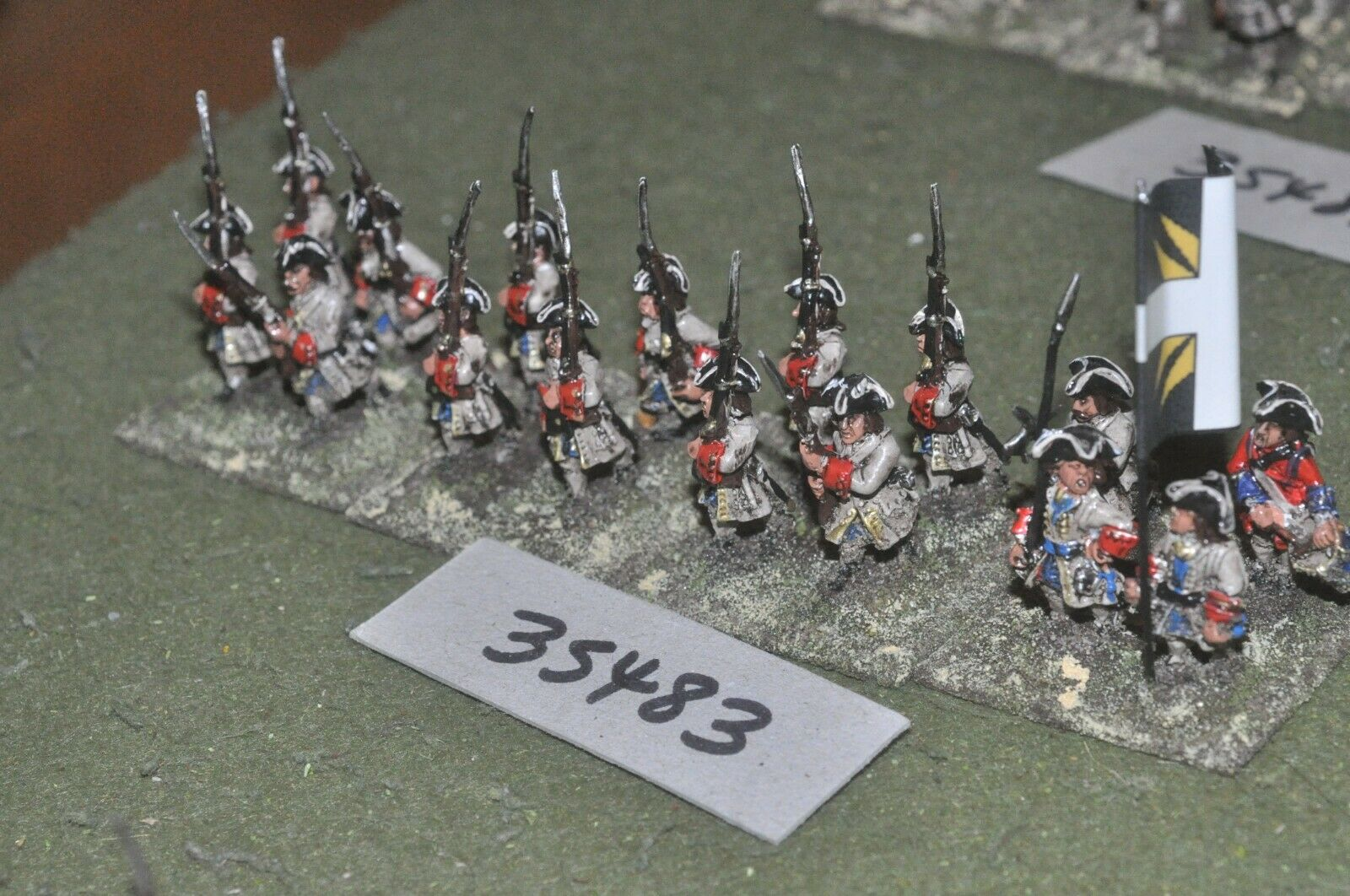 25mm marlburian   french - regiment 16 figures - inf (35483)