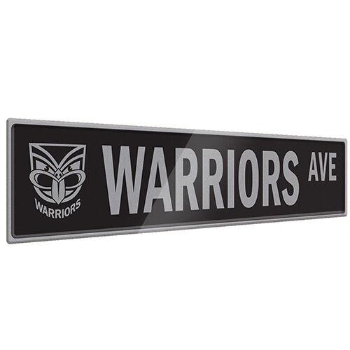 NZ New Zealand Warriors NRL Tin Street Sign **NRL OFFICIAL MERCHANDISE**