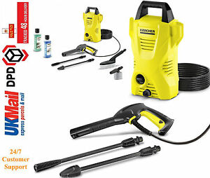 karcher k2 car home pressure washer compact patio cleaner jet lance 1400w ebay. Black Bedroom Furniture Sets. Home Design Ideas