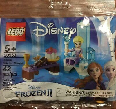 Lego Frozen 2 Elsa/'s Winter Throne Set Polybag 30553 Sealed Free Shipping
