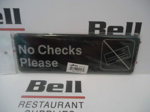 """*NEW* Update 3/"""" x  9/"""" NO CHECKS PLEASE Sign Restaurant"""